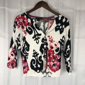 White House black markets floral light sweater